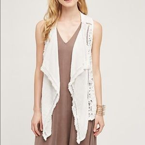 Lilka Draped lace vest from Anthropologie